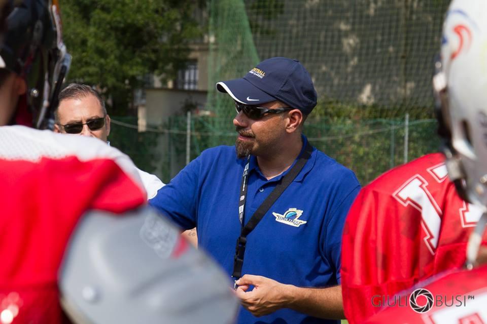 L'head coach del Blue Team Davide Giuliano