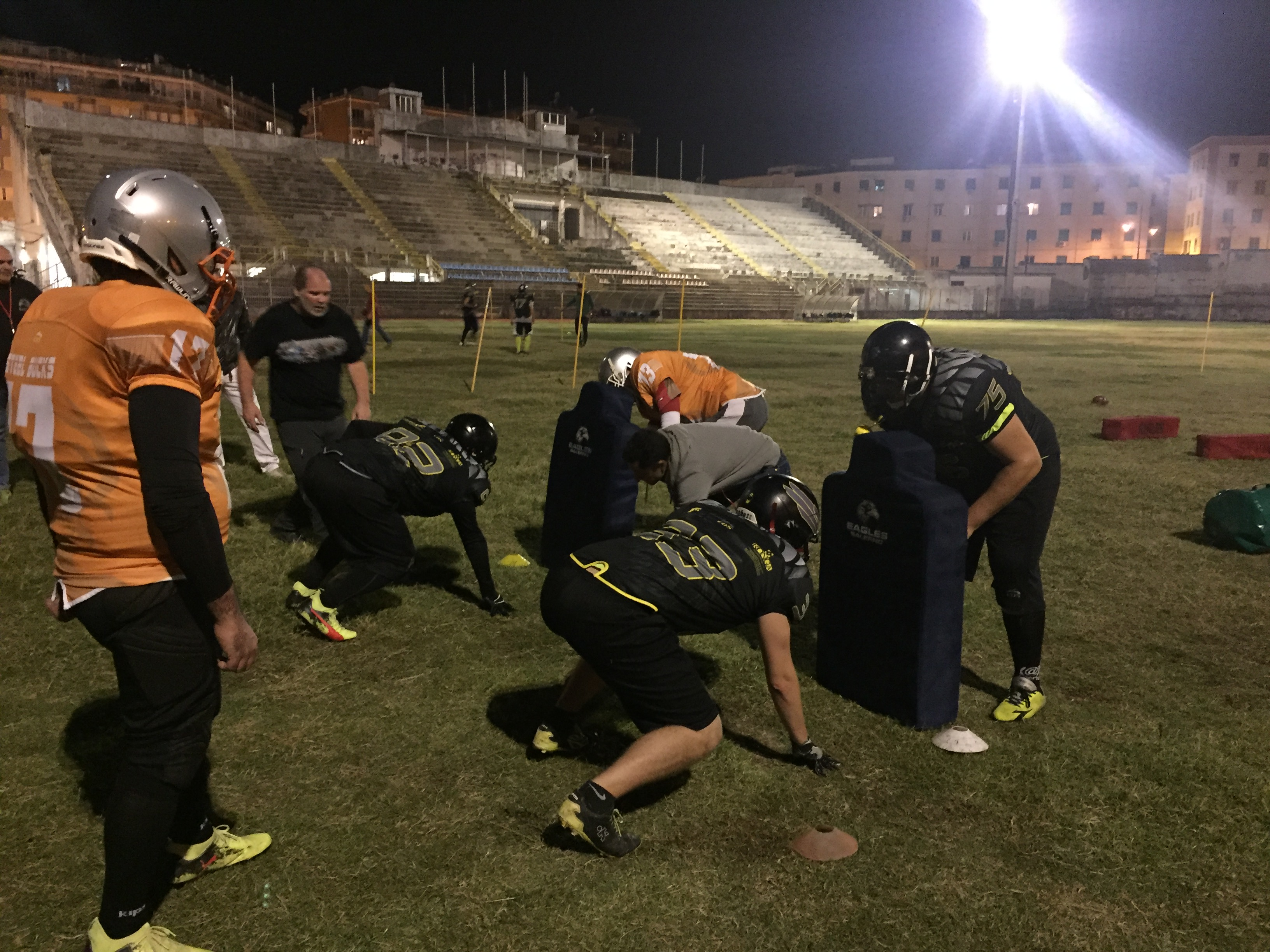 allenamento congiunto Eagles Salerno-Steel Bucks