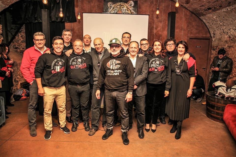 """La dirigenza dei """"Liotri"""" in occasione della Elephants Night al Ma di Catania (Feb 2019)"""