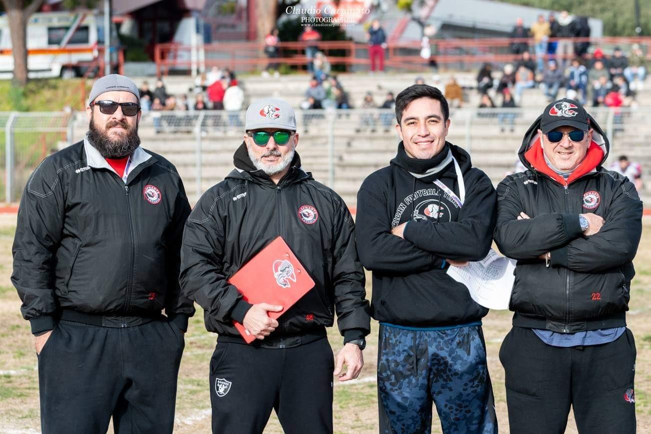 il coaching staff 2019 (foto Carpinato)