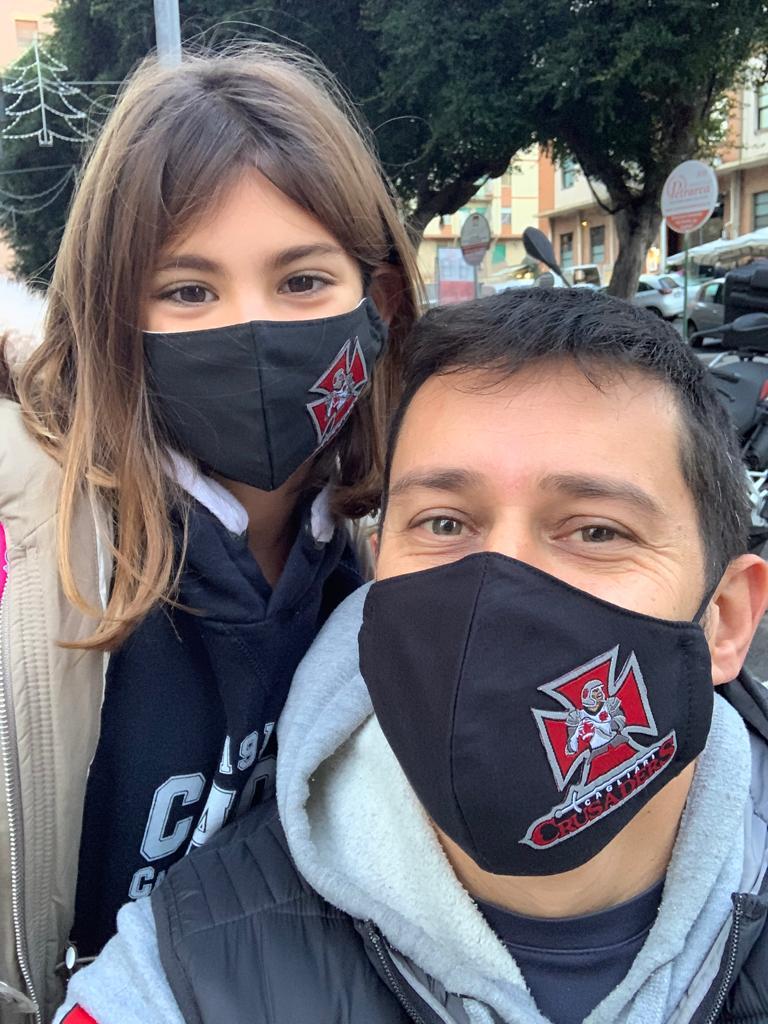 Aldo Palmas con la figlia Carlotta