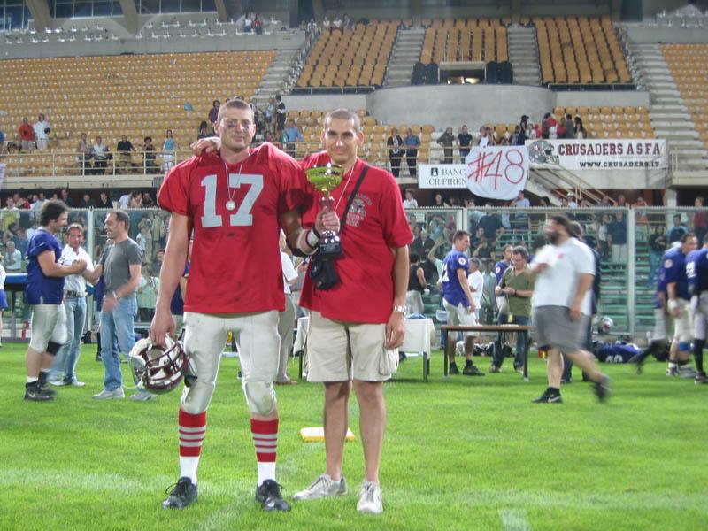 Paul Frick e Emanuele Garzia dopo la finale persa a Firenze nel 2003