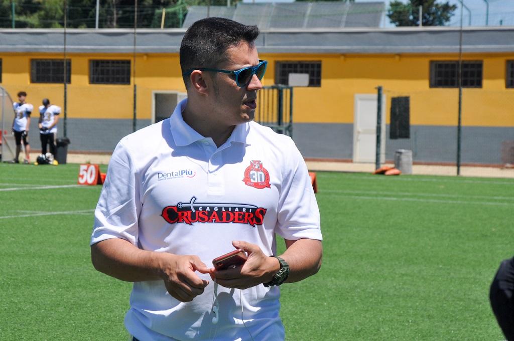 L'head coach dei Crusaders Aldo Palmas (Foto Battista Battino)